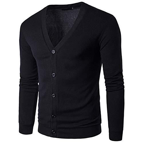 Mr.BaoLong&Miss.GO Men Knitted Cardigan Men Knitted Jacket Tops Men Sweaters Knitwear Europe Code Fashion V-Neck Cardigan Jackets Black