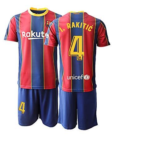 JEEG 20/21 Kinder I.RAKITIC 4# Fußball Trikot Jugend Trainings Anzug T-Shirt Set (Kinder Größe 4-13 Jahre) (22)