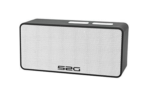 S2G Cool Bluetooth Lautsprecher, FM Radio, USB, Micro SD, Spritzwasserschutz, Freisprecheinrichtung, Klein, Leicht, Outdoor, Indoor - Schwarz/Weiß