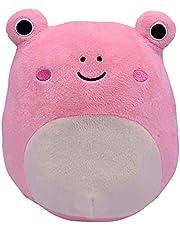 Flywind Pluszowe wypchane zwierzę zabawka, 2021 nowa urocza żaba śliczna miękka pluszowa zabawka, świetne urodziny Boże Narodzenie Halloween prezent zabawka prezent dla dzieci dorosłych (40 cm) (różowy 20 cm)