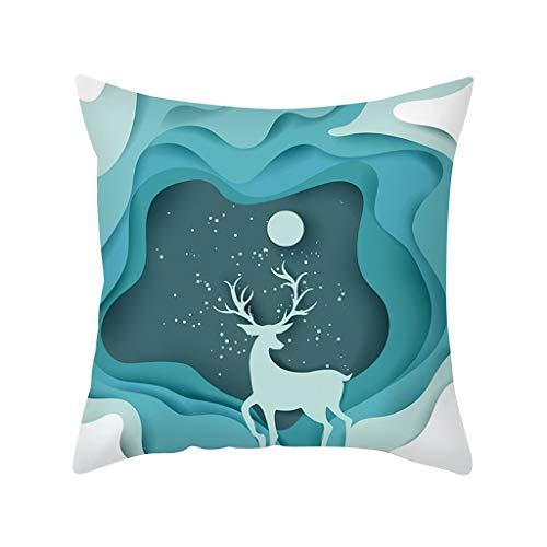 Daringjourney UK - Funda de almohada navideña (45 x 45 cm)