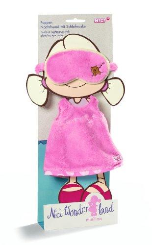 NICI 33236 - Puppen Nachthemd mit Schlafmaske für Puppe Minilina