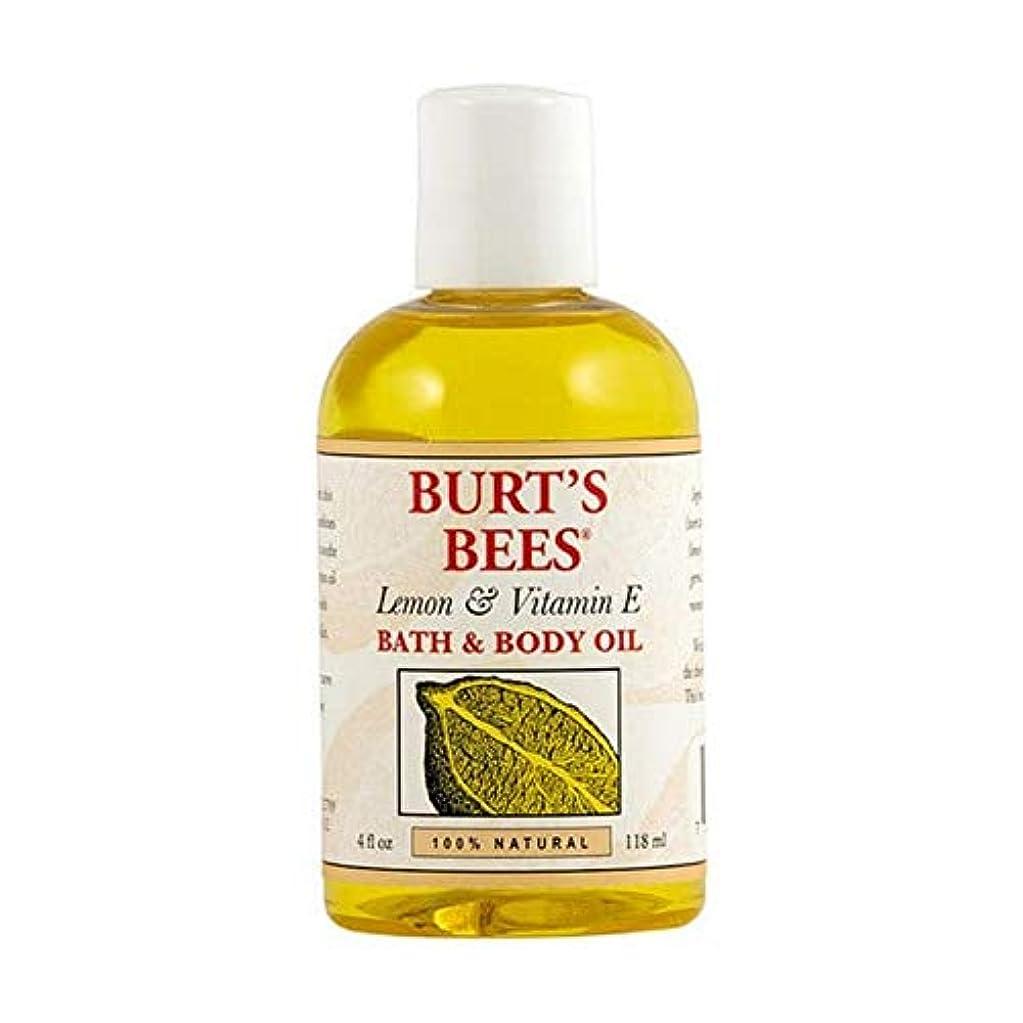 もっと少なく前奏曲おもしろい[Burt's Bees ] バーツビーレモンとビタミンE体とバスオイル115ミリリットル - Burt's Bees Lemon and Vitamin E Body and Bath Oil 115ml [並行輸入品]