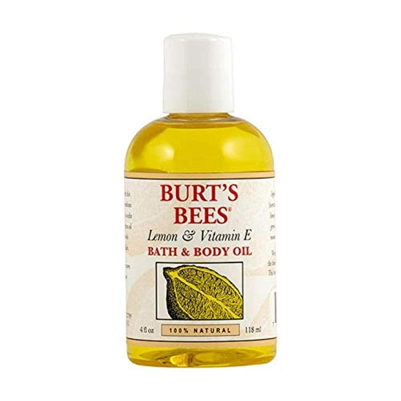 教会カバレッジ反論者[Burt's Bees ] バーツビーレモンとビタミンE体とバスオイル115ミリリットル - Burt's Bees Lemon and Vitamin E Body and Bath Oil 115ml [並行輸入品]