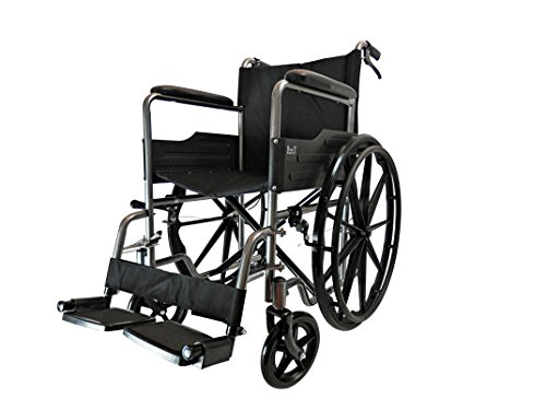 D PRO T MAG Wheels Folding Self Propelled Wheelchair Attendant Running Brakes Removable Footrests Puncture Proof With Armrest And Portable (Grey)