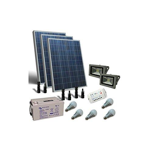 Kit Solar de Iluminacion LED 300W 12V para Interior y externa Bateria...