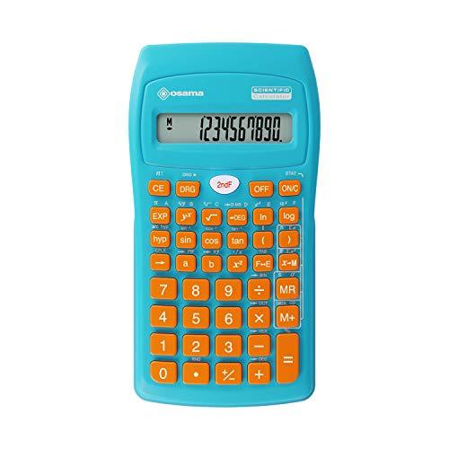 Osama Calcolatrice Scientifica 56 funzioni Becolor Azzurro/Arancio