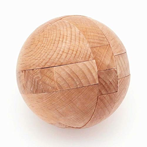 ESTART 3D Wooden Puzzle Magic Ball Brain Teaser Toy for Kids and Adults, Logic Disassembly and Assembly Intelligence Game Sphere Puzzles Educational Toy