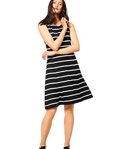 Street One Damen 142675 Kleid, Black, 40