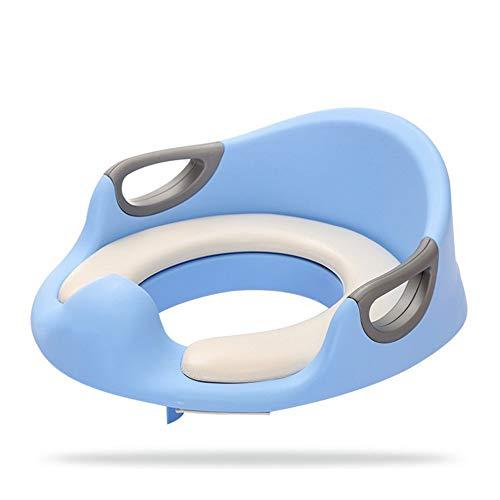 NOLLY Toilettensitz für Kinder Rutschfester gepolsterter Toilettensitz für Kinder Babytoilette Toilettensitz für Kinder (Größe: 33 * 34 * 12,5 cm) Kindertoilette (Farbe : Blau)