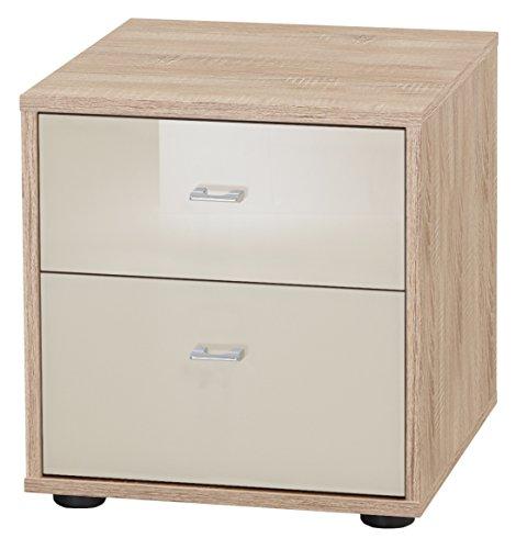 Wiemann 599735 Tokio Nachttisch, Holz, eiche-sägerau-nachbildung, 43 x 40 x 42 cm, montiert