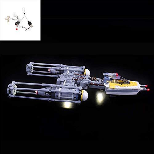 Juego de Luces LED USB DIY Compatible con Lego Star Wars Y-Wing Starfighter 75172, Kit de luz LED para Bloques de construcción (Y-Wing Starfighter) Modelo niños (No Incluido el