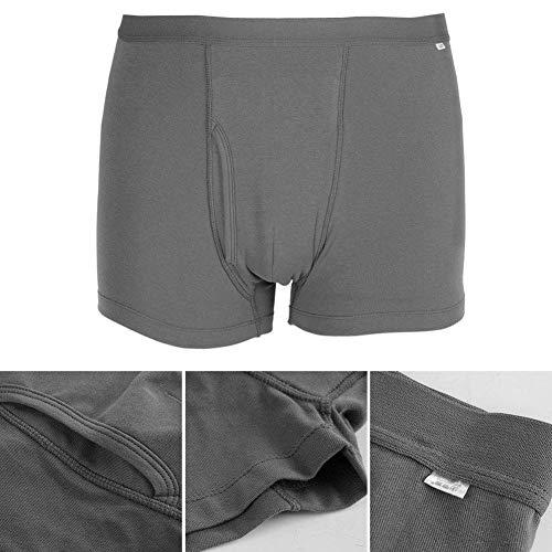 SHKY Herren Baumwolle Inkontinenz Unterwäsche, Inkontinenz Hosen für Herren Saugfähigkeit Waschbar Wiederverwendbare Erwachsenen Windel Unterwäsche,M