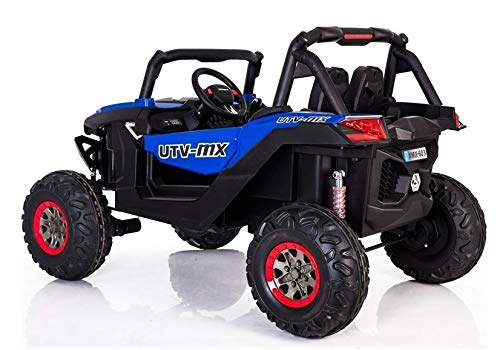 UTV 4x4 Blue Sport Edition 2 Seater 24VOLTS Buggy Style Kids Electric Ride On Car with RC - Power Wheel TV Screen Ride ON UTV Buggy 24v Kids Ride On Car with Remote Control RZR