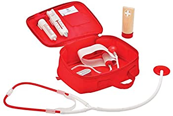 Award Winning Hape Doctor on Call Wooden Toddler Role Play and Accessory Set Red L  7.5 W  3.1 H  6.3 inch