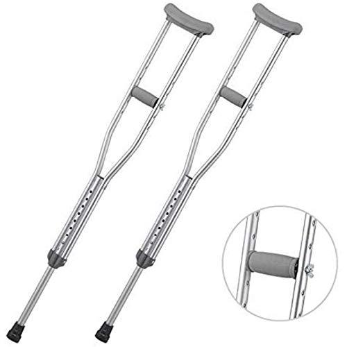 ZHANG Bastón Plegable,Muleta Antideslizante De Axilas para Discapacitados,Rehabilitación Ajustable Telescópica De Aleación De Aluminio,Large