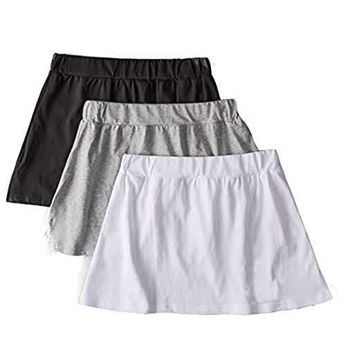 QWEWQE Conjunto de falda con capas ajustables de falsa parte superior, falda de media pieza, blusa falsa, dobladillo versátil para combinar con cualquier ropa. Negro + blanco + gris. XL