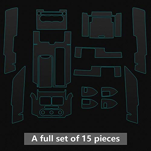ZhengELE Wrap panel de la consola transparente TPU vinilo de la película protectora del Land Rover Range Rover LWB 2013-2017 Ajuste Del Interior Accessor (Color Name : Full set)