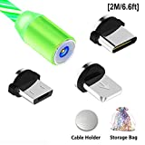 Magnetisches Ladekabel, Micro USB Typ C Kabel, Schnellladekabel 3-in-1 Adapter Ladekabel,...