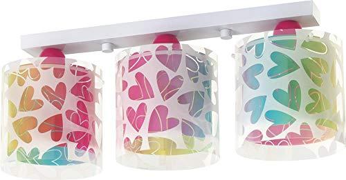 DALBER Deckenstrahler Kinderleuchte HERZ Deckenlampe Mädchenlampe
