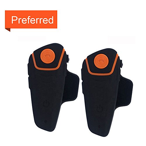 Helmet Intercom Motorcycle Communication System BT-S2 Interphone Moto Helmet Bluetooth Headset BT Intercomunicador Wireless Intercom Headset (FM Radio/IPX7 Waterproof/Handsfree/Range-1000M)