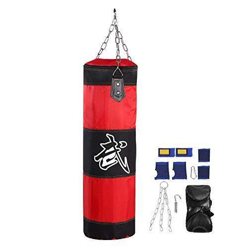 V GEBY bokstraining lege zandzak hangende kick fight tas training stansen met metalen kettinghaak karabijnhaak