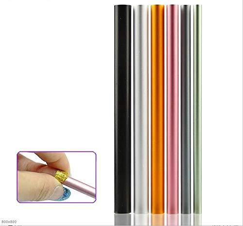 KYT-ma 6pcs / Set Form Builder Artificielle Conseils Acrylique C Curve Mise en Forme courbant Sticks Tube Français Rod Nail Art Conseils UV Outils de manucure Gel