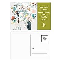 boygirl中国の古典的なスタイルのイラストレーター 詩のポストカードセットサンクスカード郵送側20個