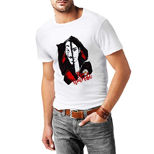 La Casa De Papel por Nairobi - Camiseta Hombre - 100% Cotone (M, Blanco)