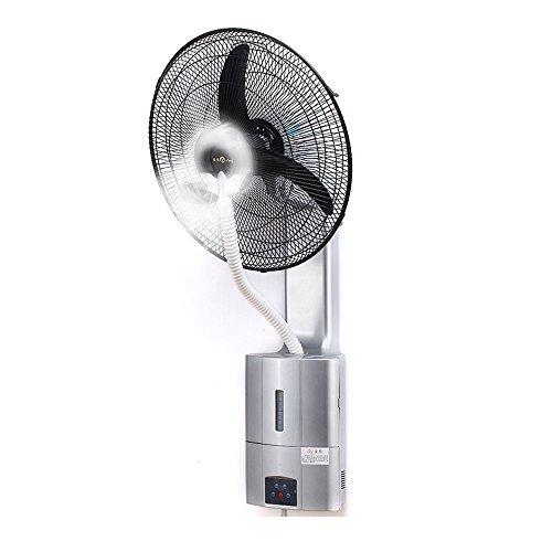 Ventilateur fixé au mur plus la télécommande d'eau secouant l'industrie de suspension de tête de mur plus le ventilateur de jet de glace (Couleur : Gray)