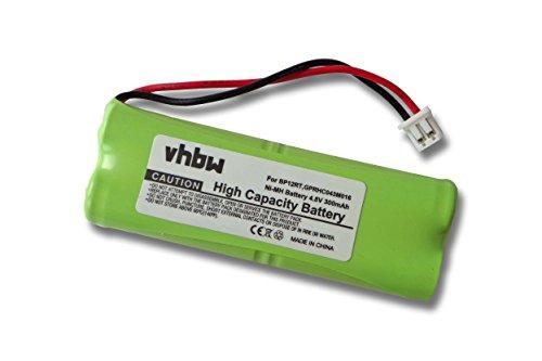 vhbw Batterie Remplacement pour Dogtra BP12RT, GPRHC043M016 pour Collier de Dressage (300mAh, 4,8V, NiMH)