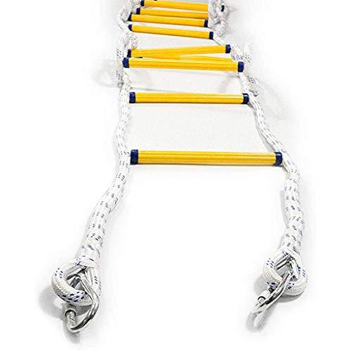 ZXQZ Dachbodenleitern Kletterseilleiter Aus Nylon, Kletterspiel für Schaukelzubehör, Baumhaus, Spielplatz, Spielset für Jungen Kinder Mehrzweckleitern (Size : 20m)