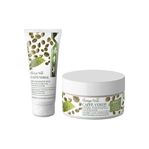Bottega Verde - Offerta Kit Corpo Completa - Linea Caffè Verde - Gel Rassodante Seno (100 ml) e Criocell Anticellulite (200 ml)
