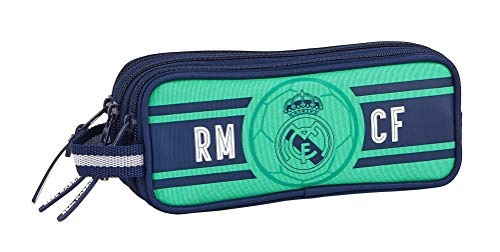 Safta Estuche Triple Cremallera de Real Madrid, 210x70x85mm, Multicolor (R. Madrid 19/20)