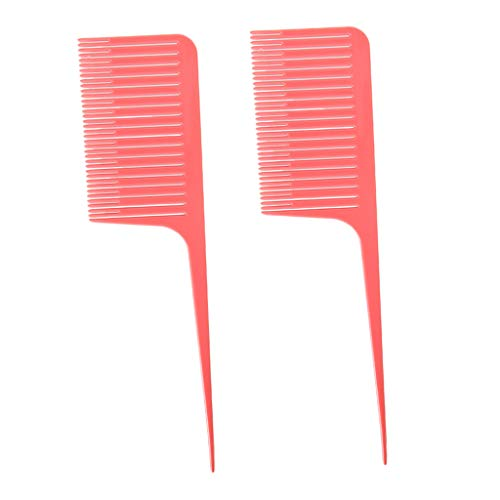SDENSHI 2x Weave Highlighting Foiling Hair Combs Pour Salon Styling Dyeing Tool Rose