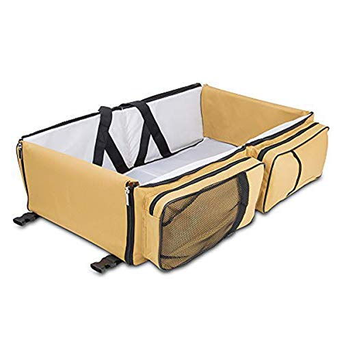 Diaper Bags - by Boxum Baby - Stylish 3 in 1 Multi-Functional - Travel Diaper Bag - Portable Bassinet & Changing Pad Station -...