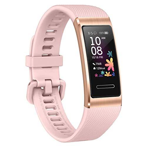 HROIJSL Sport Smart Watch Band Bluetooth GPS Pulsuhren Schrittzähler Schlafmonitor Wasserdicht Fitness Watch Fitness Armband Uhr Rosa
