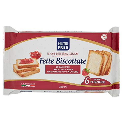 Nutrifree Fette Biscottate 225 G, Senza glutine