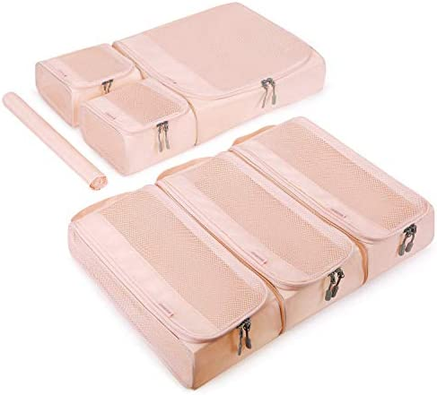 BAGSMART Packing Cubes for Women Travel Packing Organizer Set of 6 Pcs with Shoe Bag Easier product image