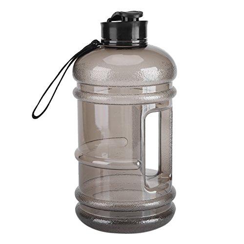 Botella de camping, boquilla de precisión segura más duradera taza deportiva ligera de grado superior, cocina de inducción de té para acampar en casa(black)