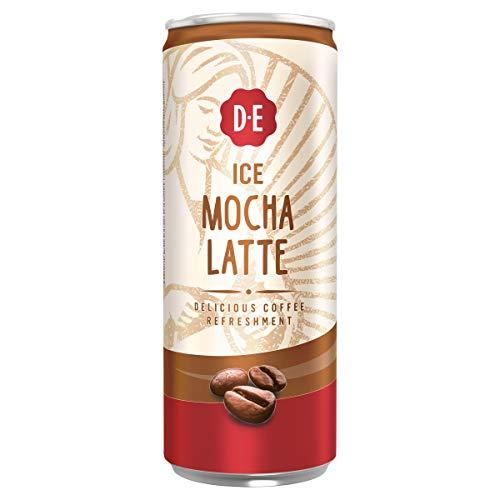 Douwe Egberts IJskoffie Ice Mocha Latte, Koffie met Melk en Zachte Mokka Smaak (12 Blikjes, 100% Arabica Koffie, Ice Coffee), 12 x 250 ml