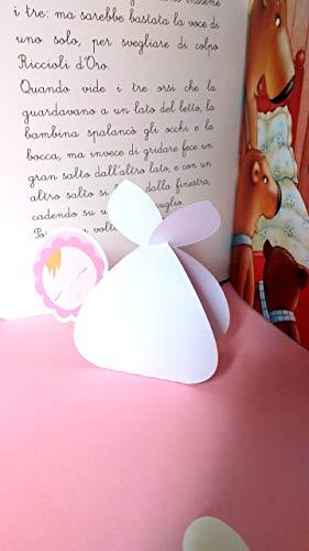 Bomboniera nascita'Fagottino della Cicogna' con segnalibro da personalizzare