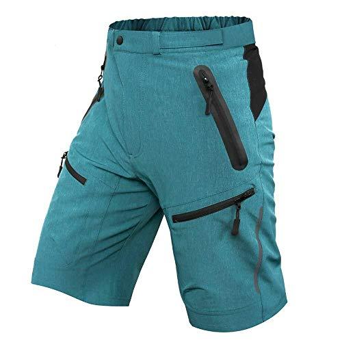 Los hombres de Pantalones cortos de ciclista MTB Mountain Bike transpirables Loose Fit for los deportes al aire libre Operando de bicicletas en Pantalones cortos ( Color : CS85 Blue , Size : M )