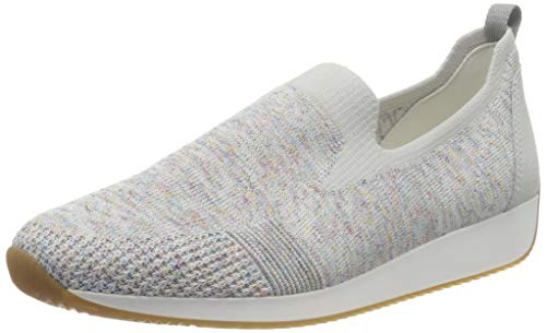 ara Damen LISSABON Slipper, Grau (Candy-Weiss, Nebbia 13), 37 EU(4 UK)