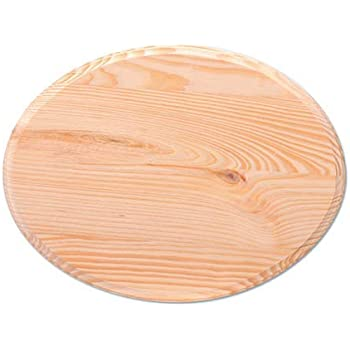 8 x ¾ inch Solid OAK round plaque 200 x 20 mm