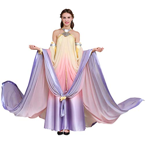 CosplayDiy Women's Dress for Queen Padme Amidala Cosplay M