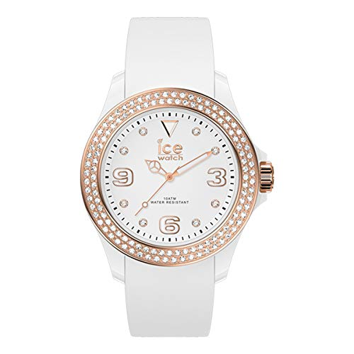 Ice-Watch - ICE star White rose-gold - Montre blanche pour femme avec bracelet en silicone - 017232 (Petit)