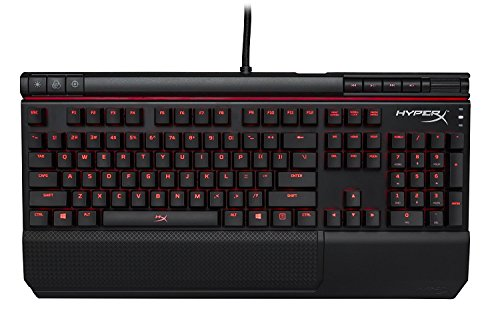 HyperX Alloy Elite Mechanical Gaming Keyboard, Cherry MX Rojo, Rojo LED (HX-KB2RD1-US/R1)