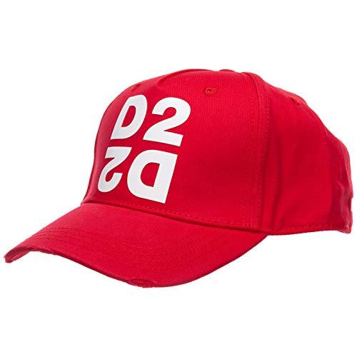 DSQUARED2 Gorra Mirrored, Rojo, Talla Única