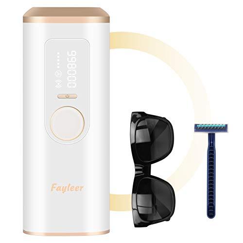 fayleer IPL Geräte Haarentfernung Haarentfernungsgerät Dauerhafte Haarentferner mit 998,000 Lichtimpulse Hair Remover Heimgebrauch für Körper Gesicht Bikinizone Achseln Damen und Männer